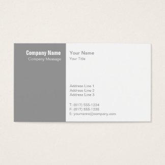 Einfaches graues Weiß Visitenkarte
