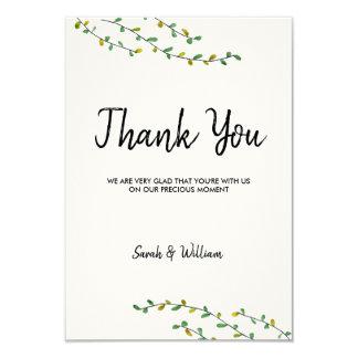 Einfaches Grün danken Ihnen zu kardieren Karte