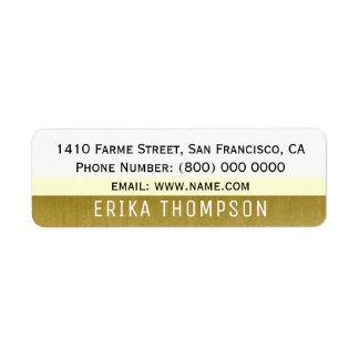 einfaches grundlegendes modernes Adressen-Etikett Rücksendeetiketten