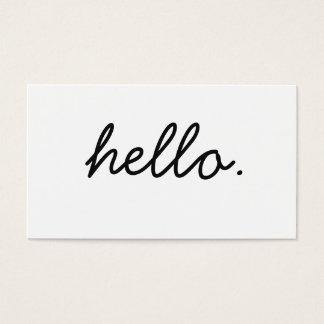 Einfaches hallo-berufliches Schwarzweiss-Geschäft Visitenkarte