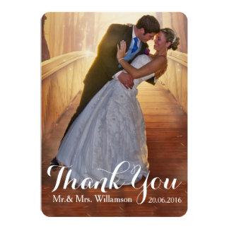 Einfaches Hochzeits-Foto danken Ihnen 12,7 X 17,8 Cm Einladungskarte