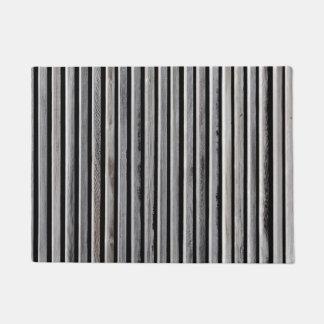 Einfaches hölzernes Streifen-Muster Türmatte