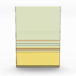 Einfaches horizontales gestreiftes - Gelb und Grün Acryl Auszeichnung