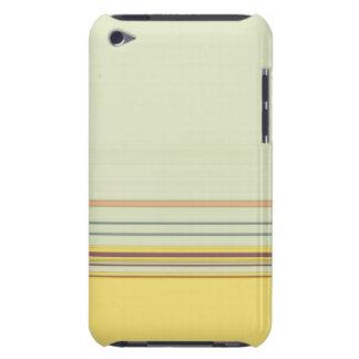 Einfaches horizontales gestreiftes - Gelb und Grün iPod Touch Case