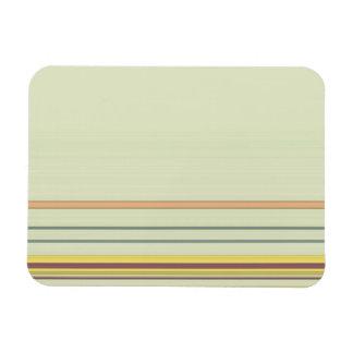 Einfaches horizontales gestreiftes - Gelb und Grün Magnet