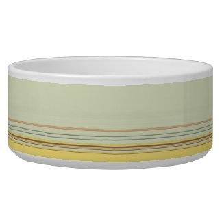 Einfaches horizontales gestreiftes - Gelb und Grün Napf
