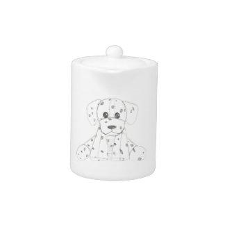 einfaches Hundegekritzel scherzt Schwarz-weißen