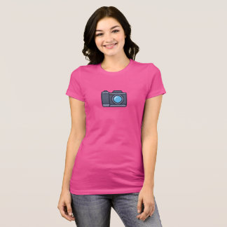 Einfaches Kamera-Ikonen-Shirt T-Shirt
