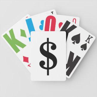 Einfaches klassisches Alphabet des Bicycle Spielkarten
