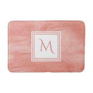 Einfaches korallenrotes rosa subtiles modernes badematte