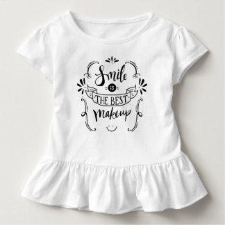 Einfaches Lächeln ist das beste Rüsche-T-Stück des Kleinkind T-shirt
