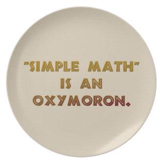 Einfaches Mathe ist ein Oxymoron Melaminteller
