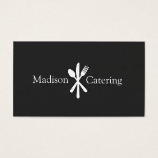 Einfaches Messer-Löffel-und Visitenkarte