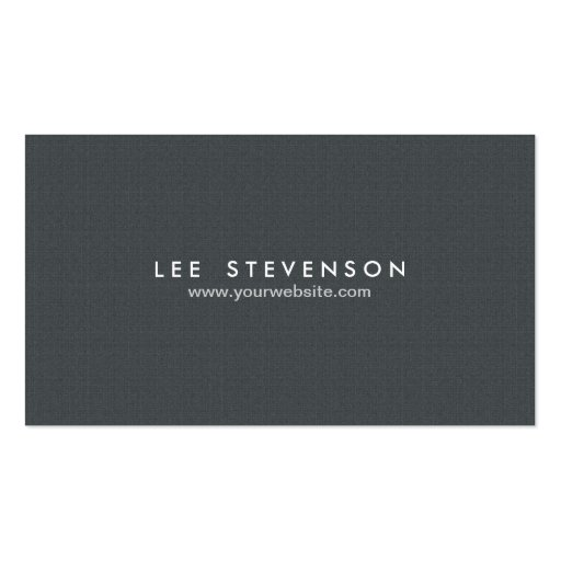 Einfaches Minimalistic festes schwarzes Visitenkarten Vorlage