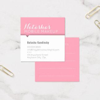 Einfaches modernes sauberes mutiges Rosa der Quadratische Visitenkarte