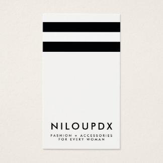 Einfaches modernes Schwarz-weißes gestreiftes Visitenkarten