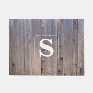 Einfaches Monogramm-Holz Türmatte