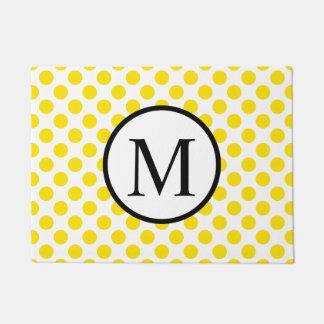 Einfaches Monogramm mit gelben Tupfen Türmatte