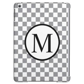 Einfaches Monogramm mit grauem Schachbrett