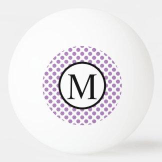 Einfaches Monogramm mit Lavendel-Tupfen Ping-Pong Ball