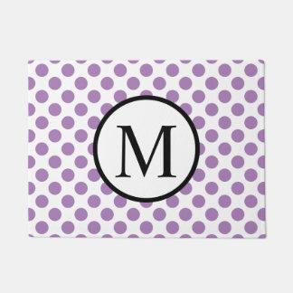 Einfaches Monogramm mit Lavendel-Tupfen Türmatte