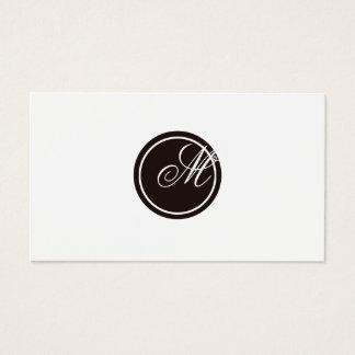 Einfaches Monogramm Visitenkarte