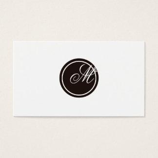 Einfaches Monogramm Visitenkarten