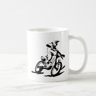 Einfaches Motorcross Fahrrad und Reiter Kaffeetasse