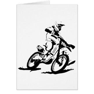 Einfaches Motorcross Fahrrad und Reiter Karte