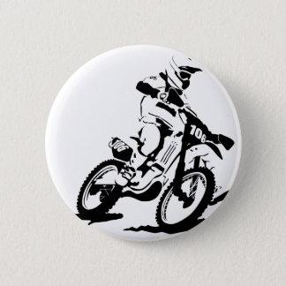 Einfaches Motorcross Fahrrad und Reiter Runder Button 5,1 Cm