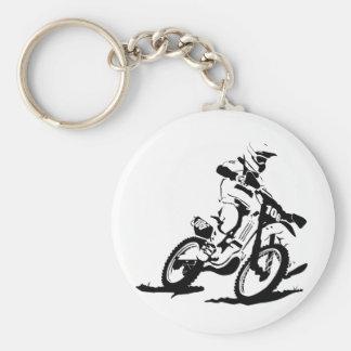 Einfaches Motorcross Fahrrad und Reiter Schlüsselanhänger