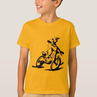 Einfaches Motorcross Fahrrad und Reiter T-Shirt