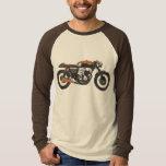 Einfaches Motorrad - Caféracer-Zeichnen Shirt