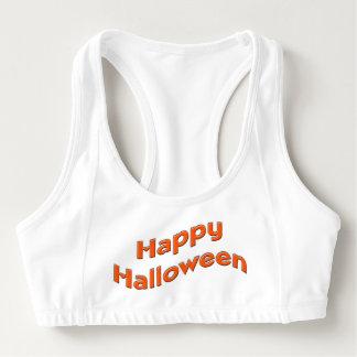 Einfaches orange glückliches Halloween Sport-BH