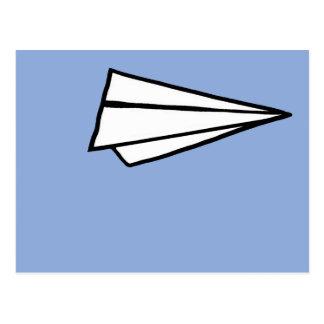 einfaches Papierflugzeug Postkarten