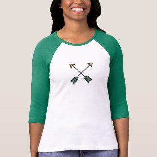 Einfaches Querpfeil-Ikonen-Shirt T-Shirt