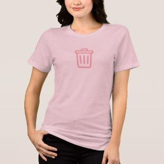 Einfaches rosa Abfall-Behälter-Ikonen-Shirt T-Shirt