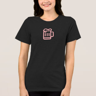 Einfaches rosa Bier-Tassen-Ikonen-Shirt T-Shirt
