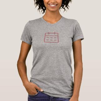 Einfaches rosa Kalender-Ikonen-Shirt T-Shirt