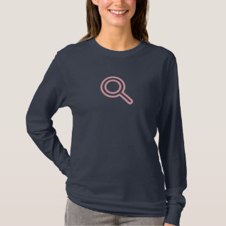 Einfaches rosa Suchikonen-Shirt T-Shirt