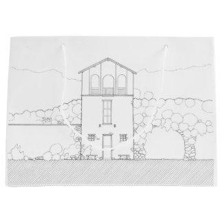 Einfaches rustikales Haus-modernes Große Geschenktüte
