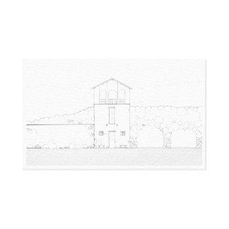 Einfaches rustikales Haus-modernes Leinwanddruck