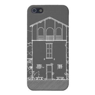 Einfaches rustikales Haus-modernes Tafel-Zeichnen iPhone 5 Cover