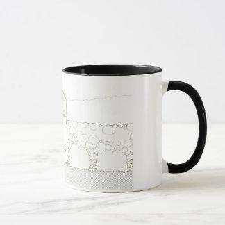 Einfaches rustikales Haus-modernes Tasse