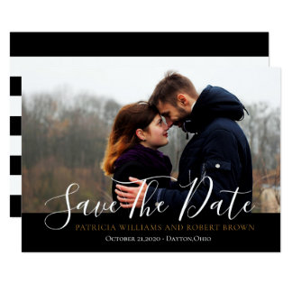 Einfaches Save the Date Foto Karte