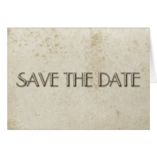 Einfaches Save the Date Vintages beflecktes Papier Karte