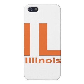 Einfaches Schwarzes IL Illinois Hülle Fürs iPhone 5
