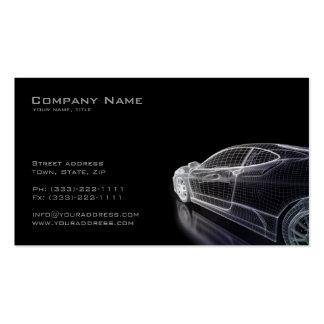 Einfaches schwarzes Modell einer Auto-Visitenkarte