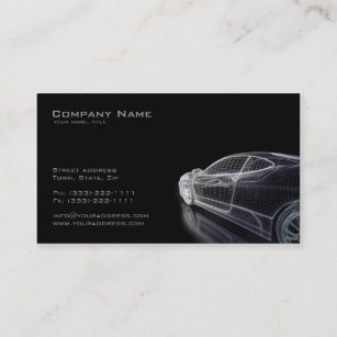 Auto Motor Visitenkarten Zazzle De