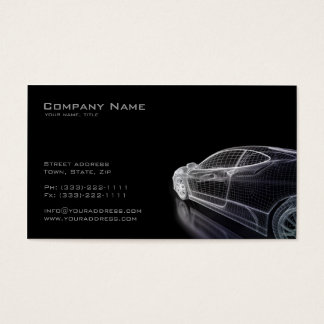 Einfaches schwarzes Modell einer Auto-Visitenkarte Visitenkarten